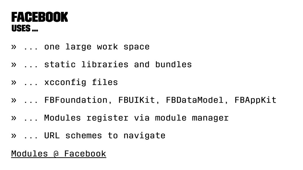Facebook Uses ... » ... one large work space » ...