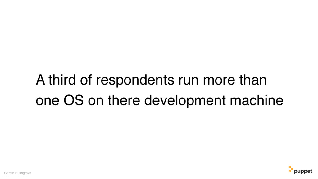 A third of respondents run more than one OS on ...