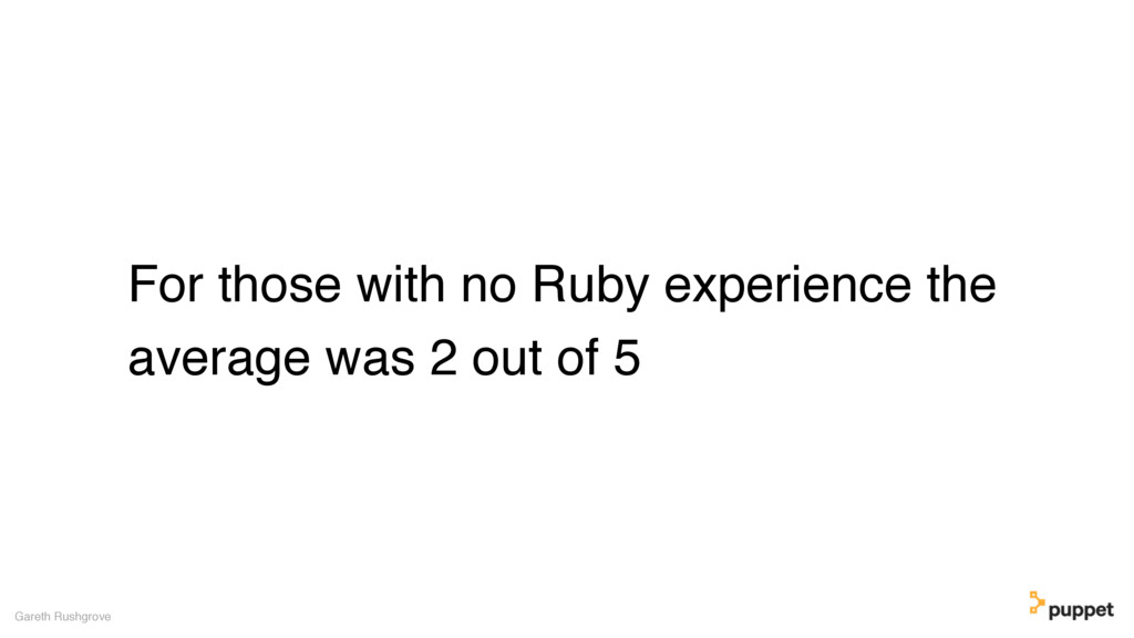 For those with no Ruby experience the average w...