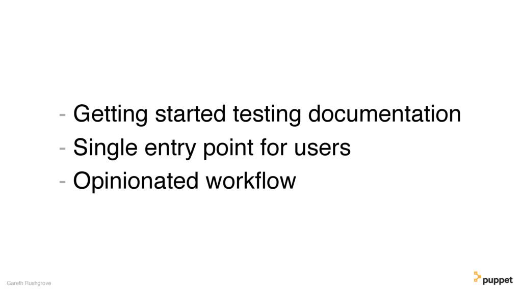 - Getting started testing documentation - Singl...