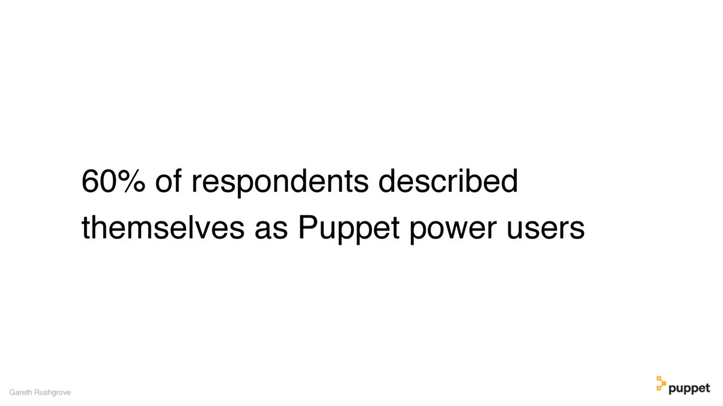 60% of respondents described themselves as Pupp...