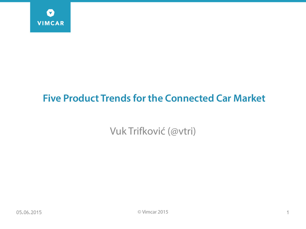 Five Product Trends for the Connected Car Marke...