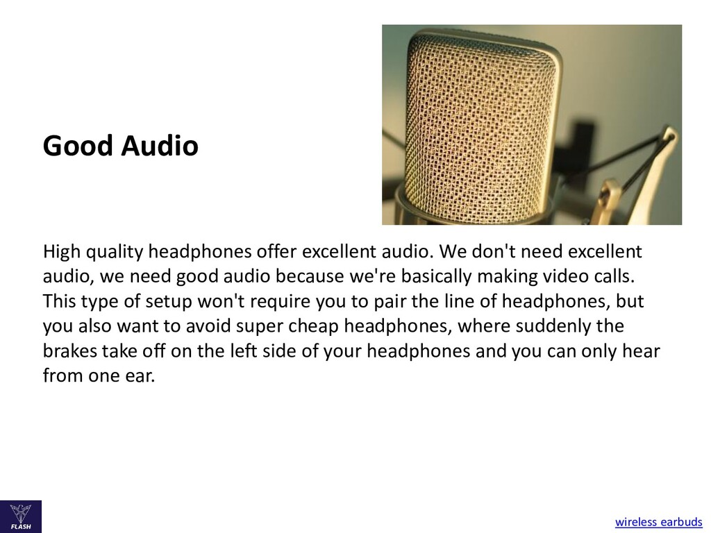 Good Audio High quality headphones offer excell...