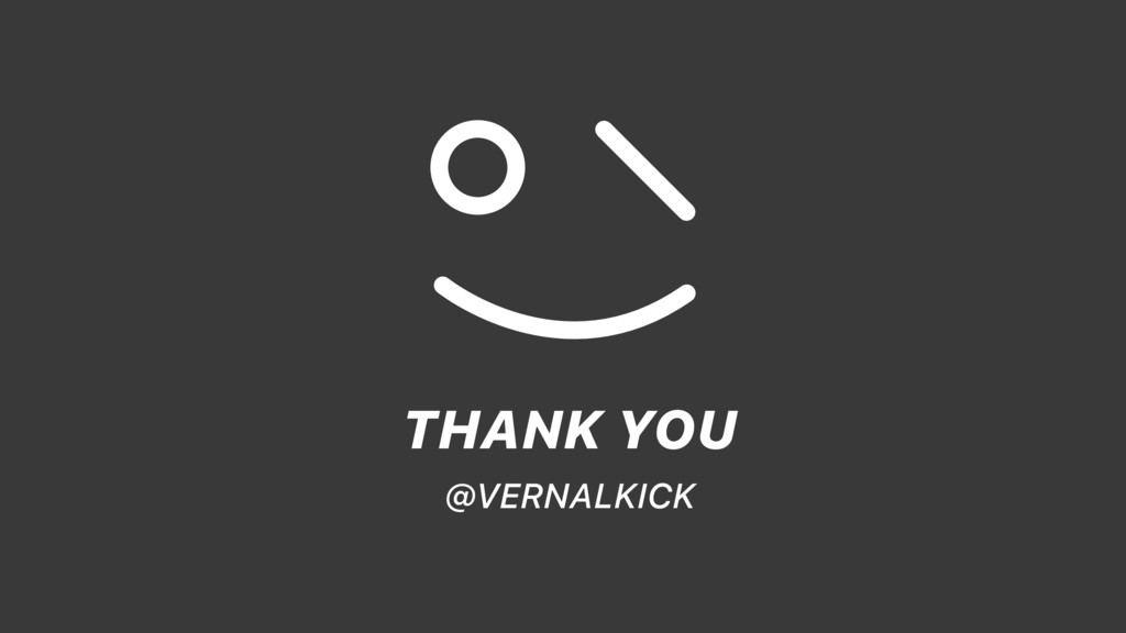 THANK YOU @VERNALKICK
