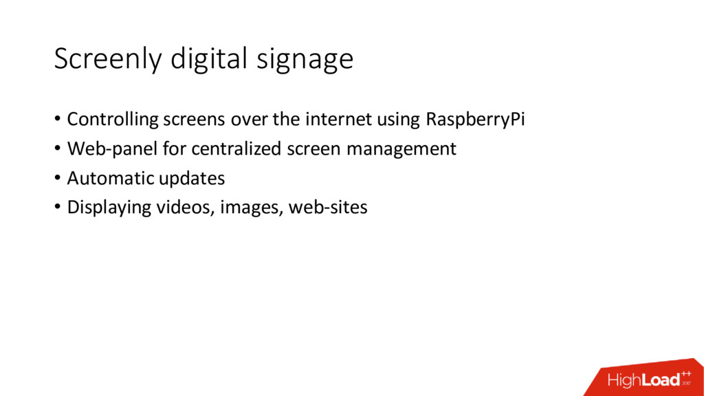 Screenly digital signage • Controlling screens ...