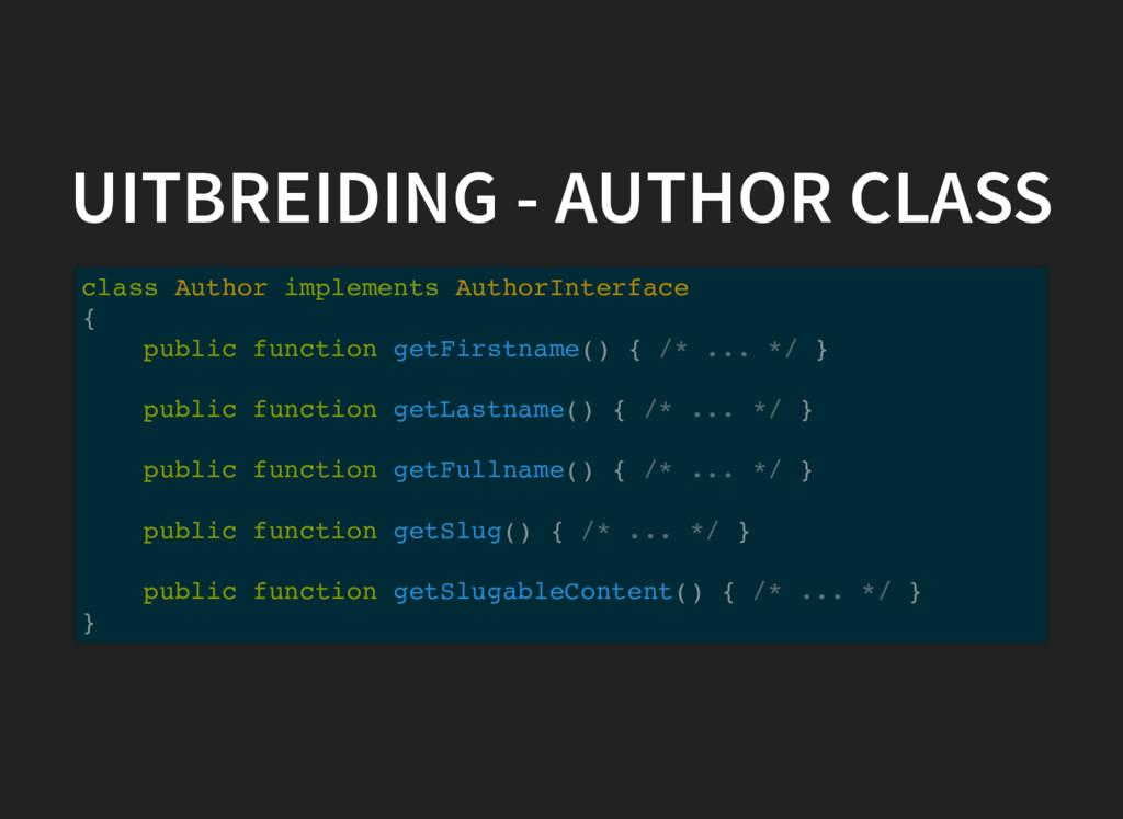 UITBREIDING - AUTHOR CLASS class Author impleme...