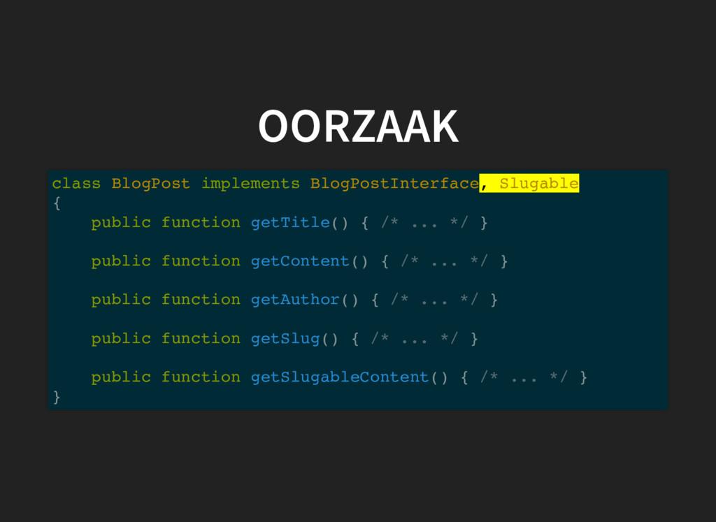 OORZAAK class BlogPost implements BlogPostInter...