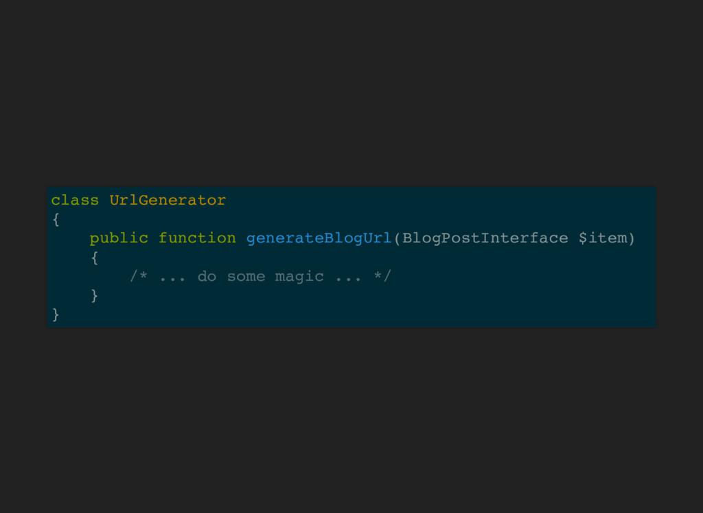 class UrlGenerator { public function generateBl...
