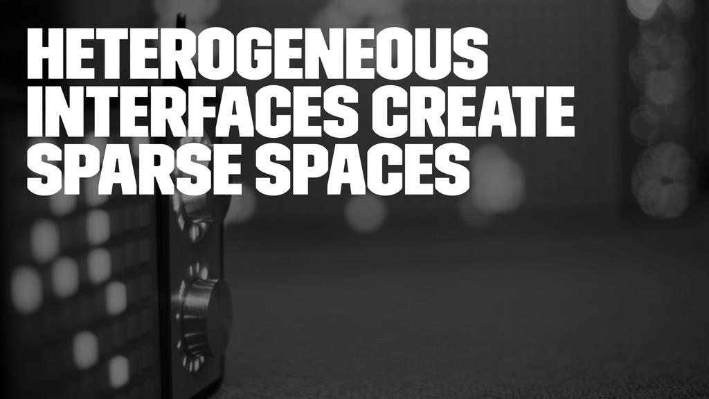 Heterogeneous interfaces create sparse spaces