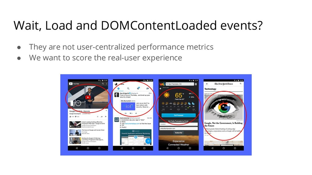 Wait, Load and DOMContentLoaded events? ● They ...