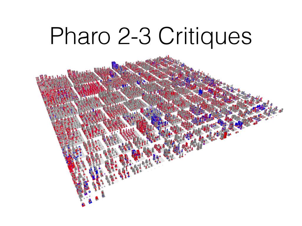 Pharo 2-3 Critiques