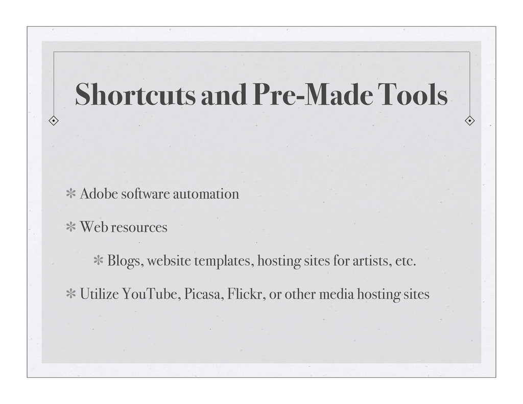Shortcuts and Pre-Made Tools Adobe software aut...