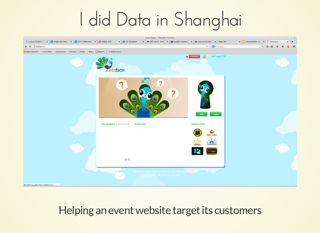 I did Data in Shanghai I did Data in Shanghai H...