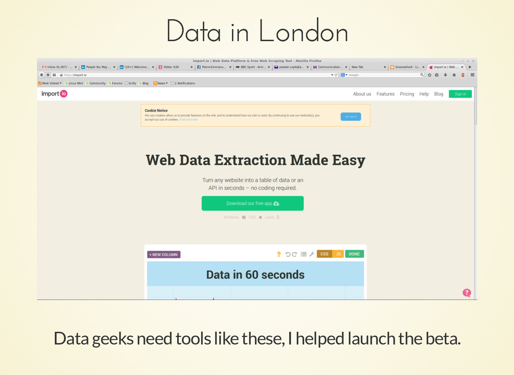 Data in London Data in London Data geeks need t...