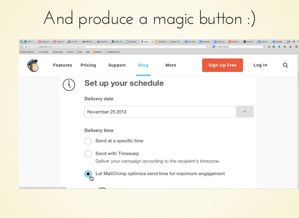 And produce a magic button :) And produce a mag...