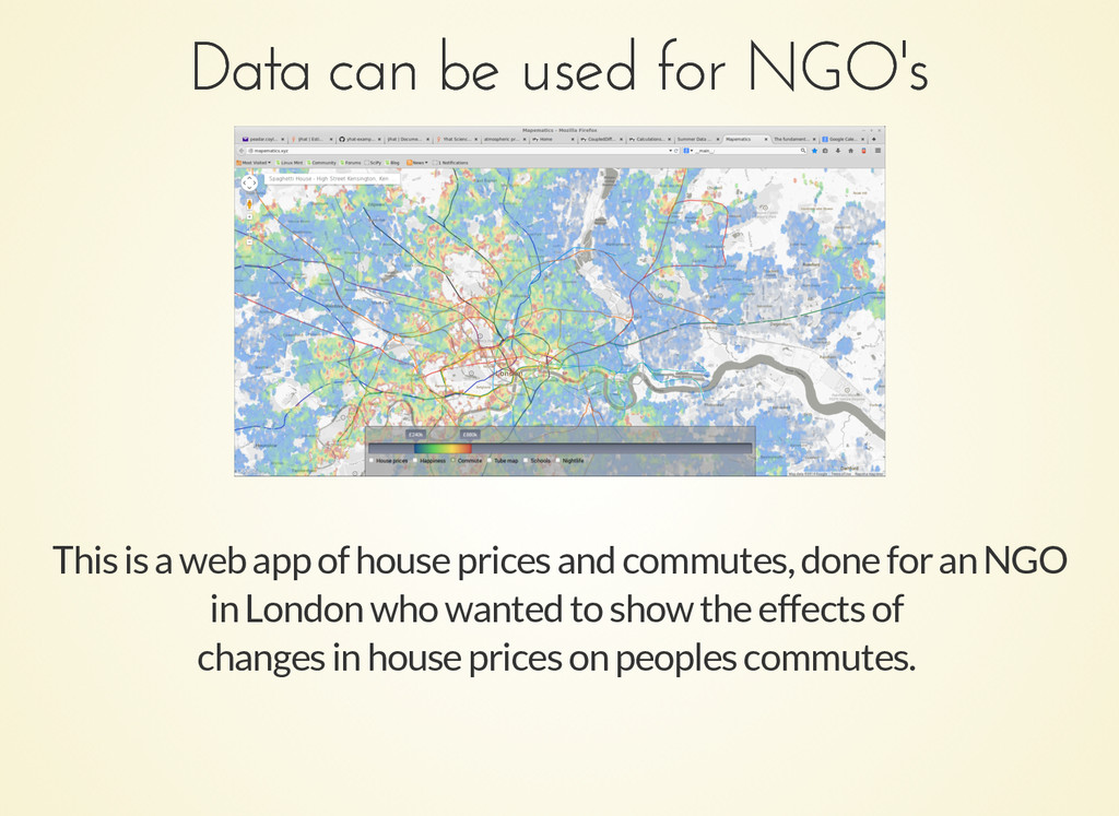 Data can be used for NGO's Data can be used for...