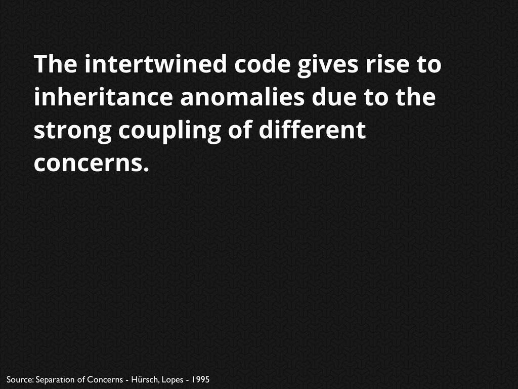 The intertwined code gives rise to inheritance ...