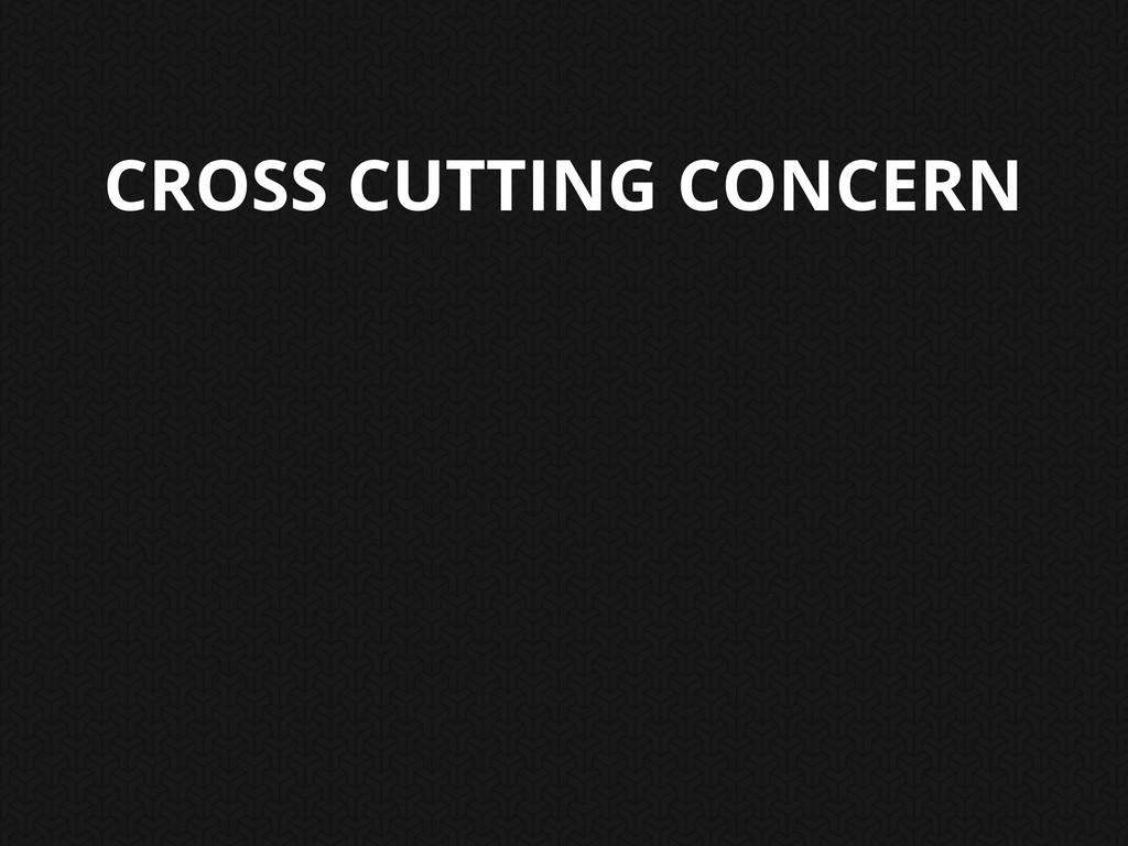 CROSS CUTTING CONCERN