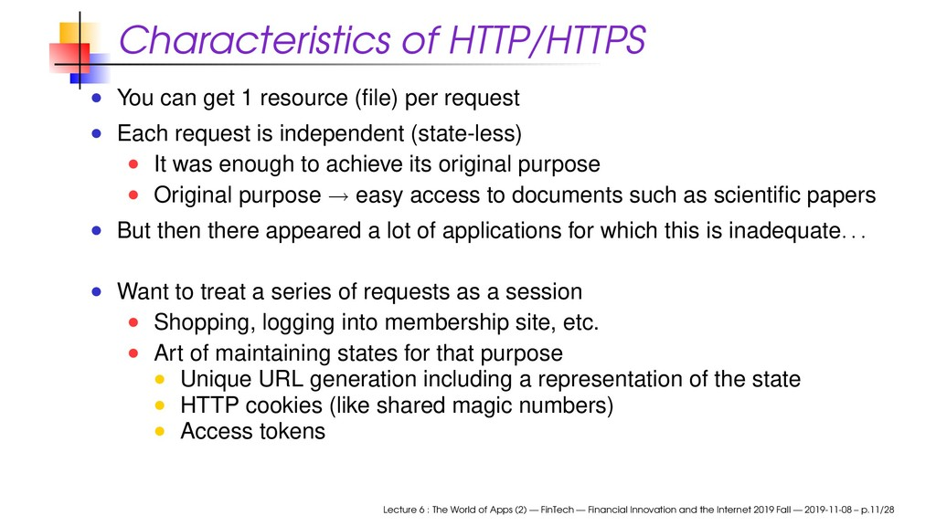 Characteristics of HTTP/HTTPS You can get 1 res...