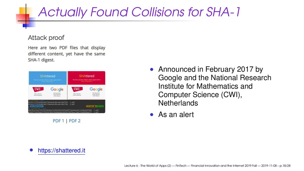 Actually Found Collisions for SHA-1 https://sha...