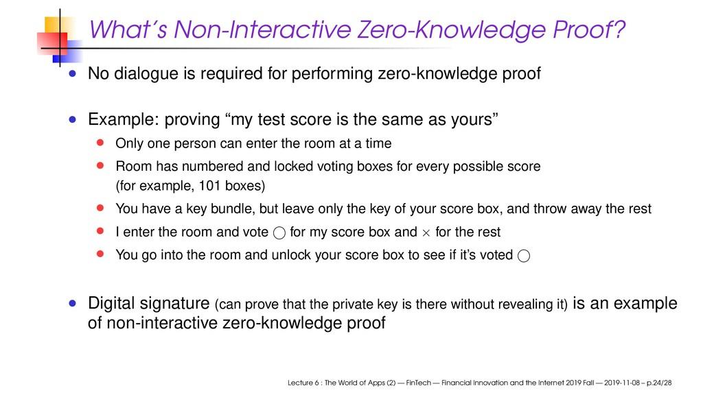 What's Non-Interactive Zero-Knowledge Proof? No...