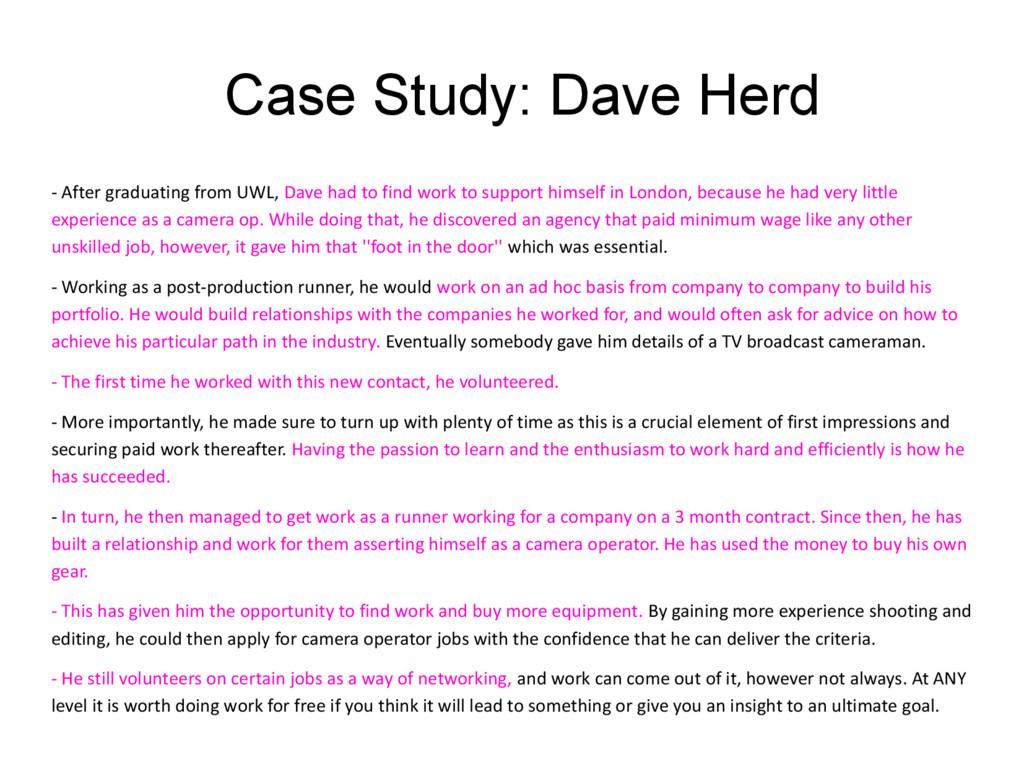Case Study: Dave Herd - After graduating from U...