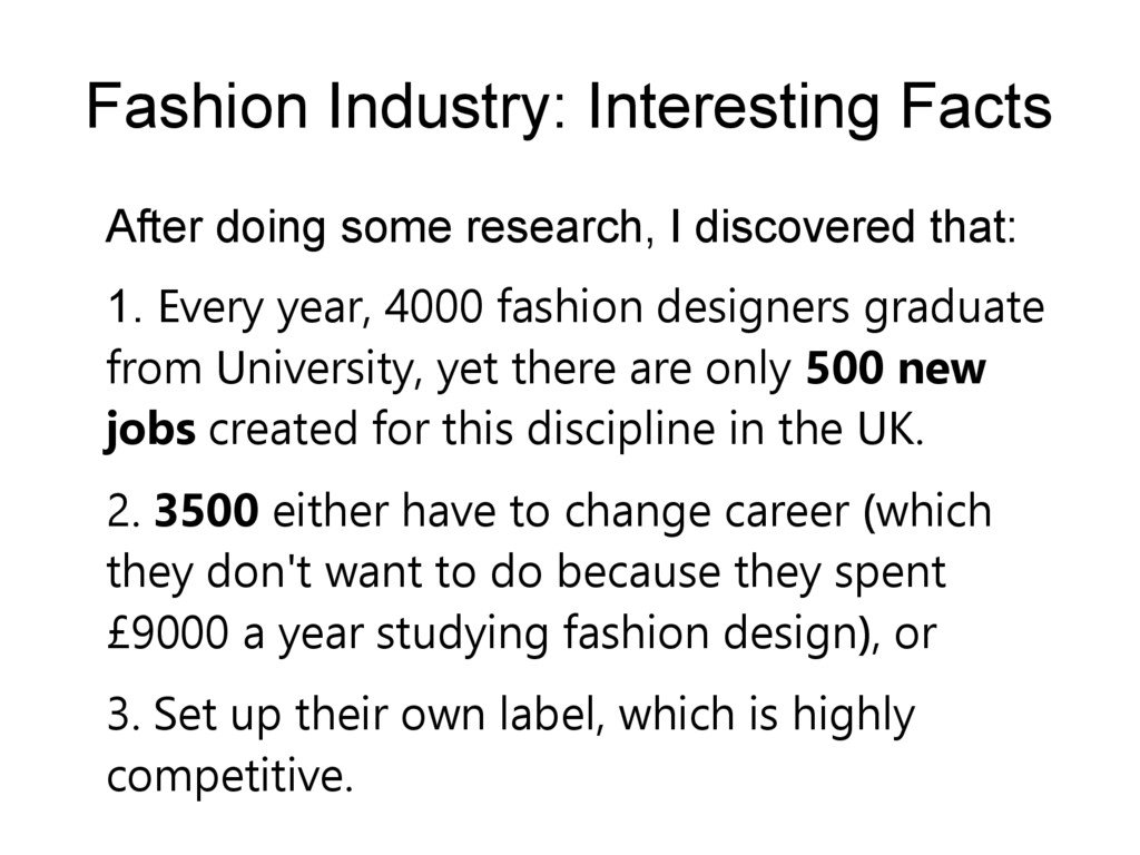 Fashion Industry: Interesting Facts After doing...