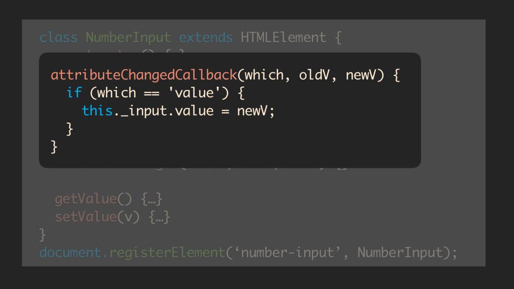 class NumberInput extends HTMLElement { constru...