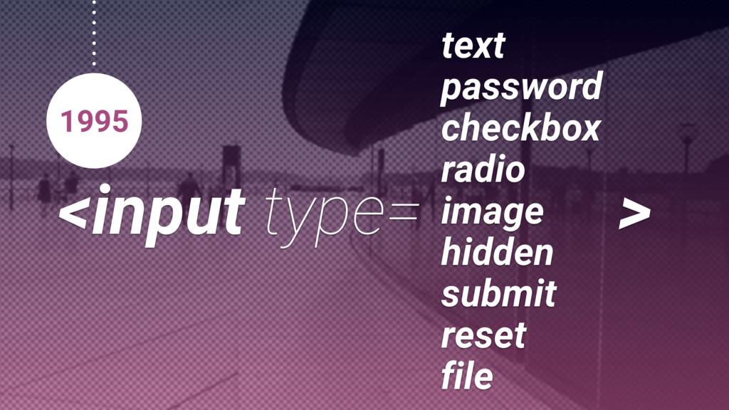 <input type=button> 1995 checkbox text password...