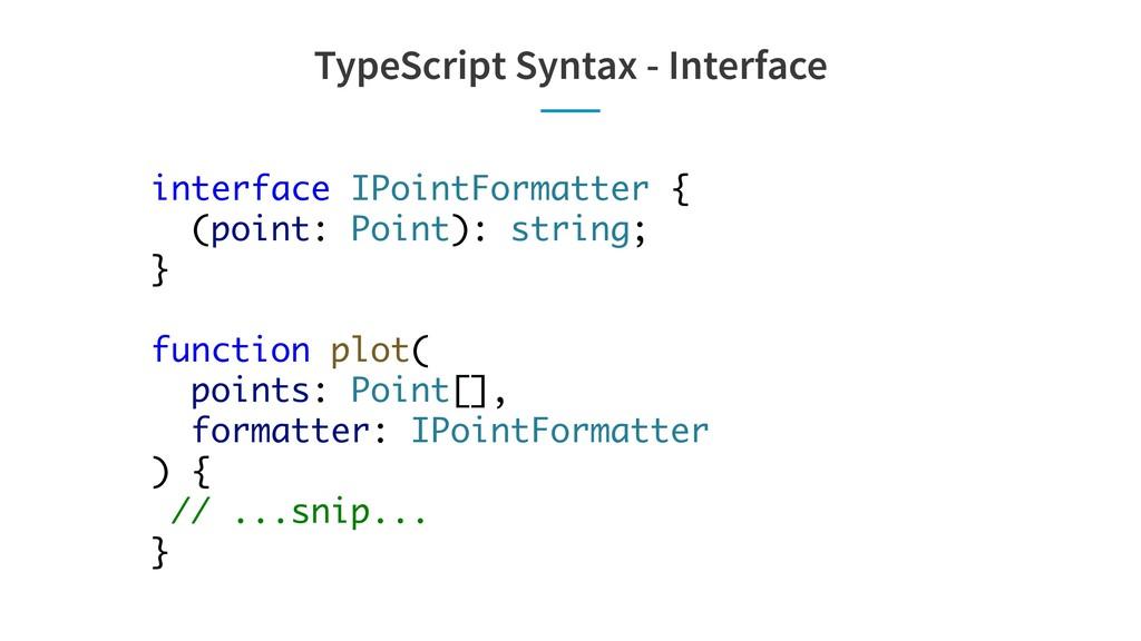 TypeScript Syntax - Interface interface IPointF...