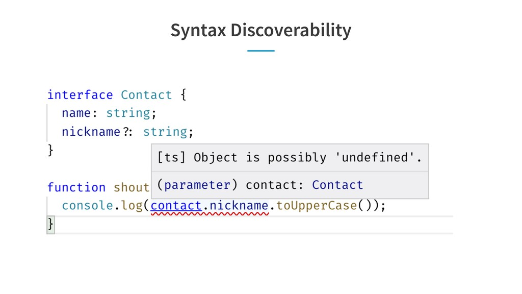 Syntax Discoverability