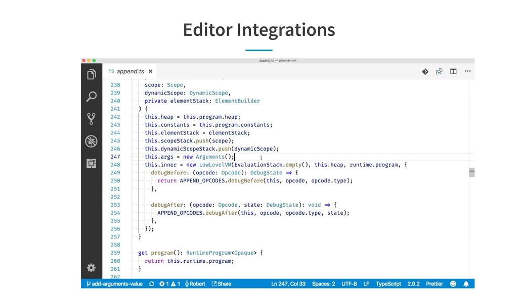Editor Integrations