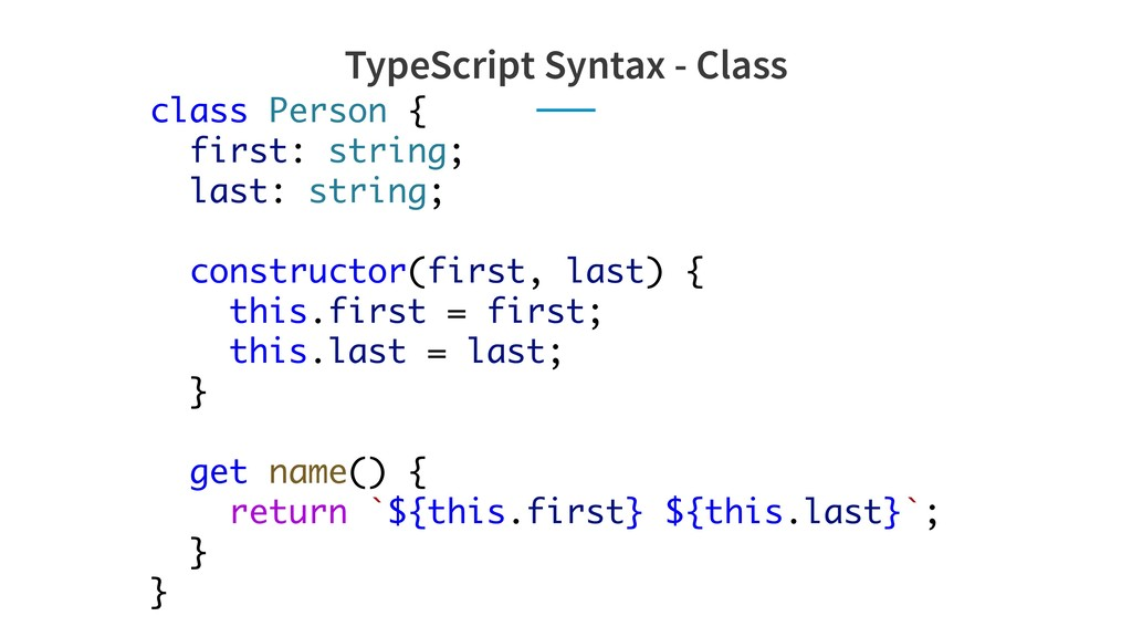 class Person { first: string; last: string; con...