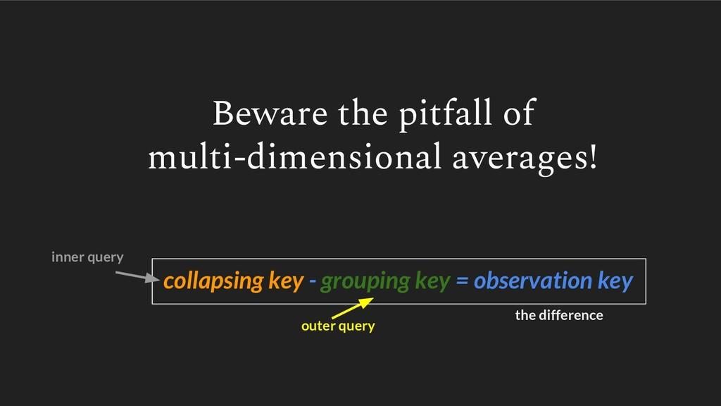 Beware the pitfall of multi-dimensional average...