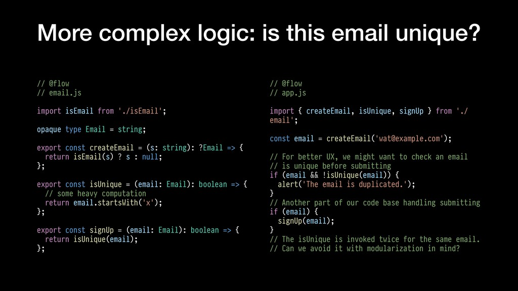More complex logic: is this email unique? // @f...