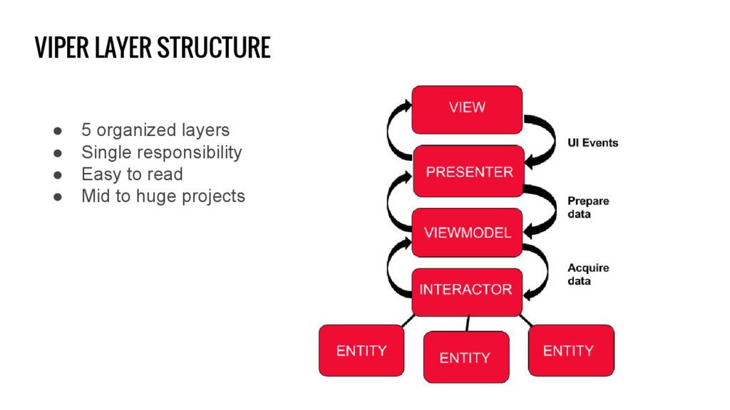VIPER LAYER STRUCTURE ● 5 organized layers ● Si...