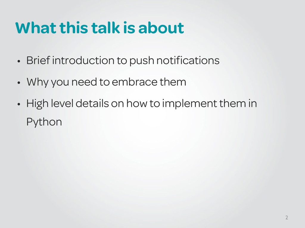 What this talk is about • Brief introduction to...