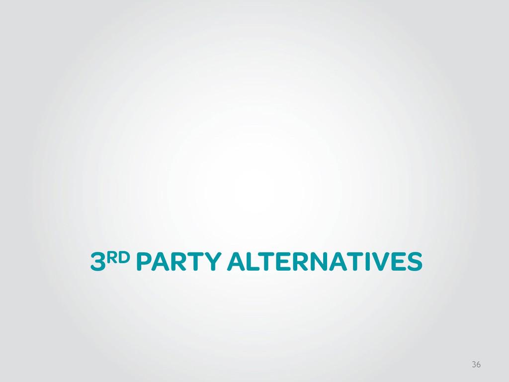 3RD PARTY ALTERNATIVES 36