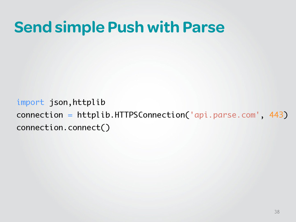 Send simple Push with Parse ! ! ! ! ! import js...