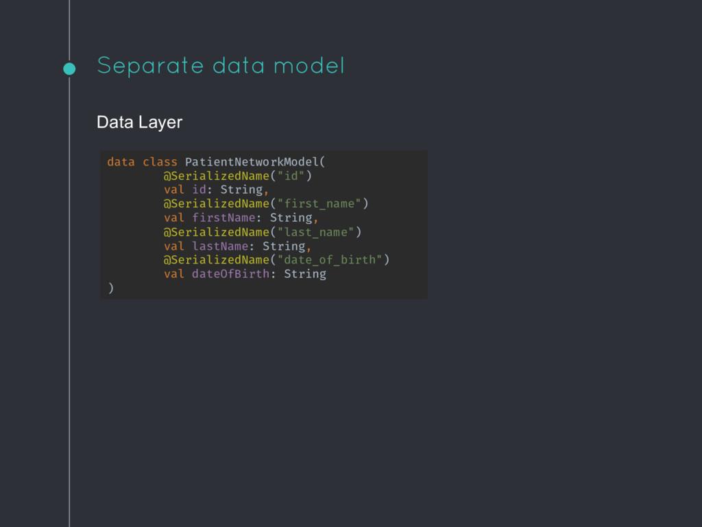 Separate data model data class PatientNetworkMo...
