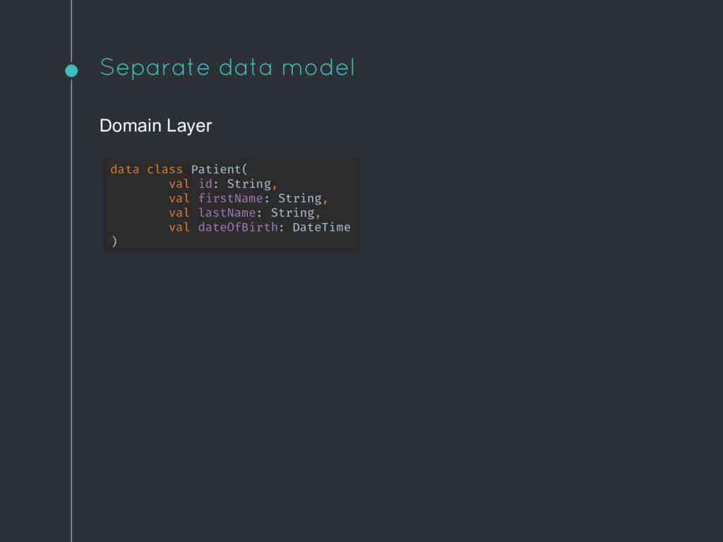 Separate data model Domain Layer data class Pat...
