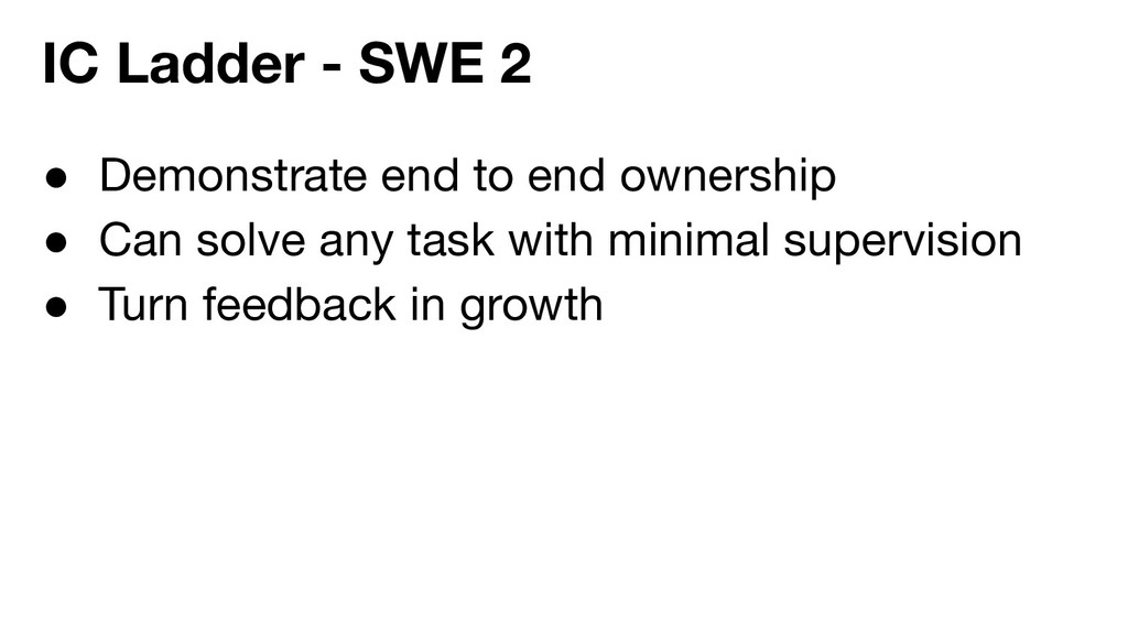 ● Demonstrate end to end ownership ● Can solve ...
