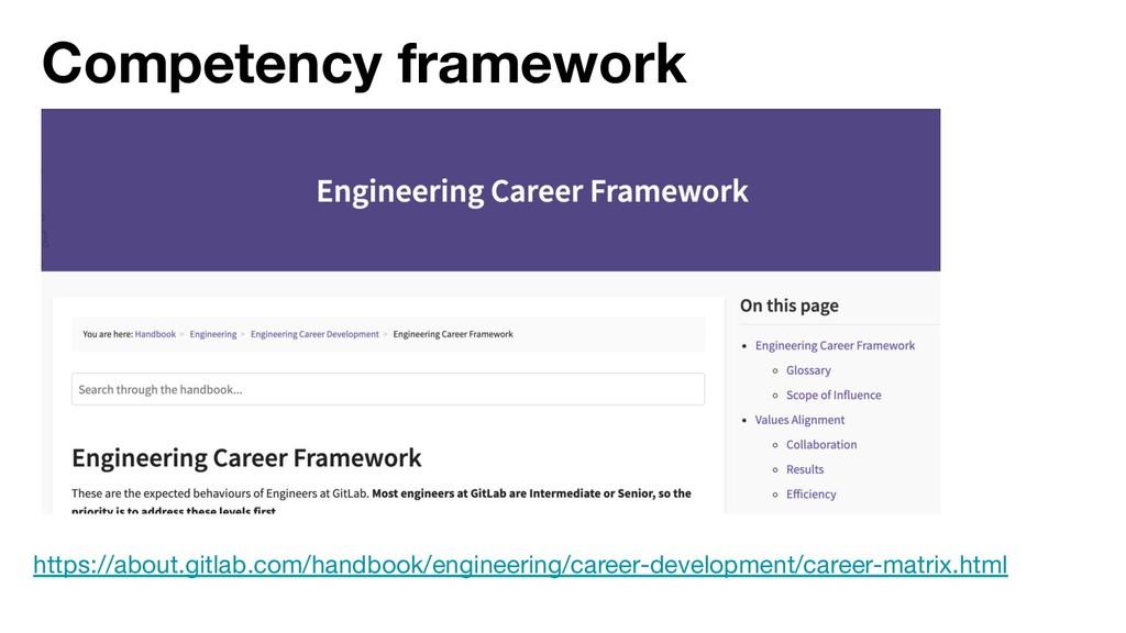 Competency framework https://about.gitlab.com/h...