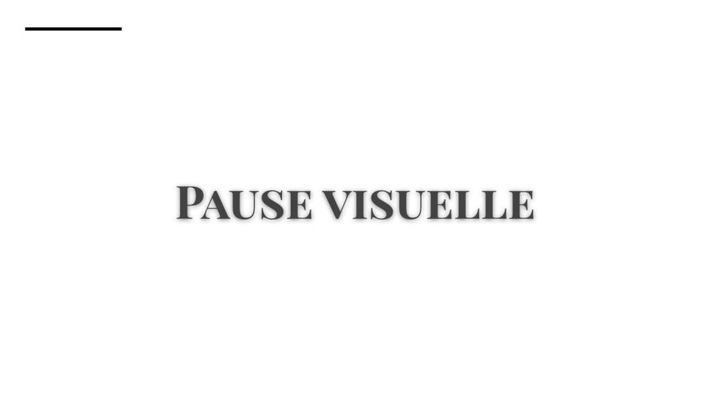 Pause visuelle