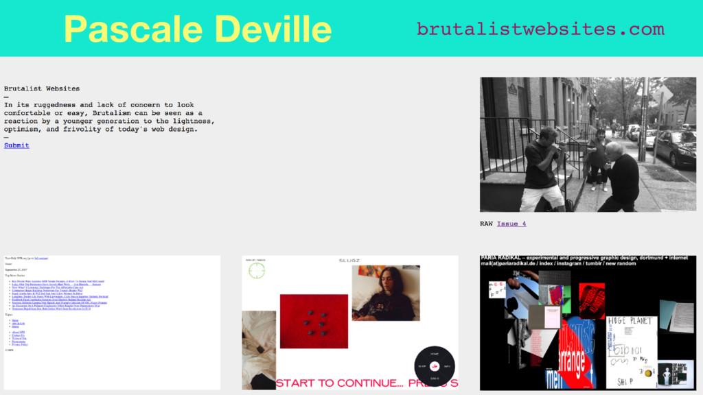 brutalistwebsites.com Pascale Deville