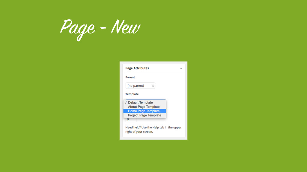 Page - New