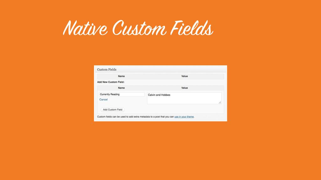 Native Custom Fields