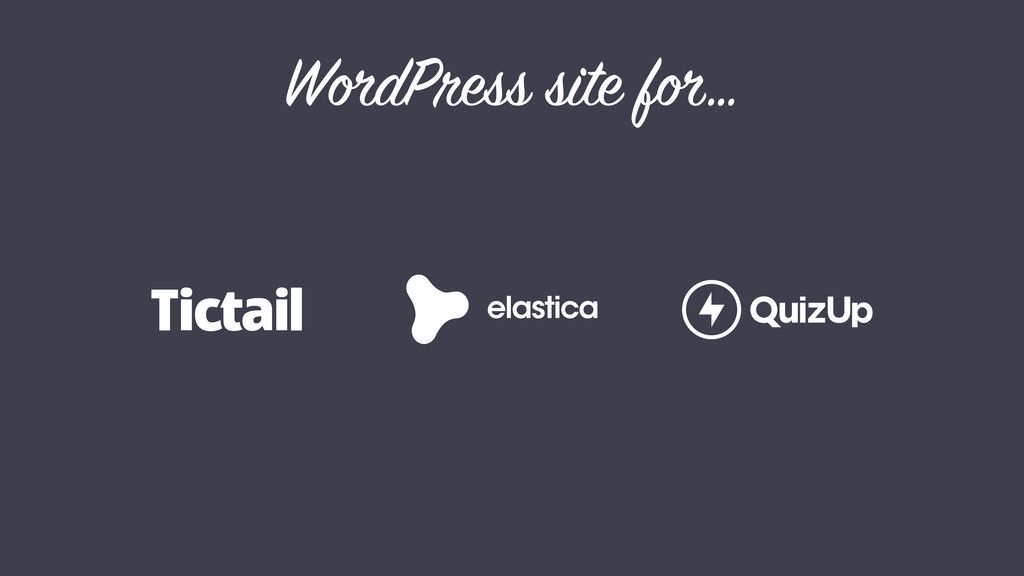 WordPress site for…