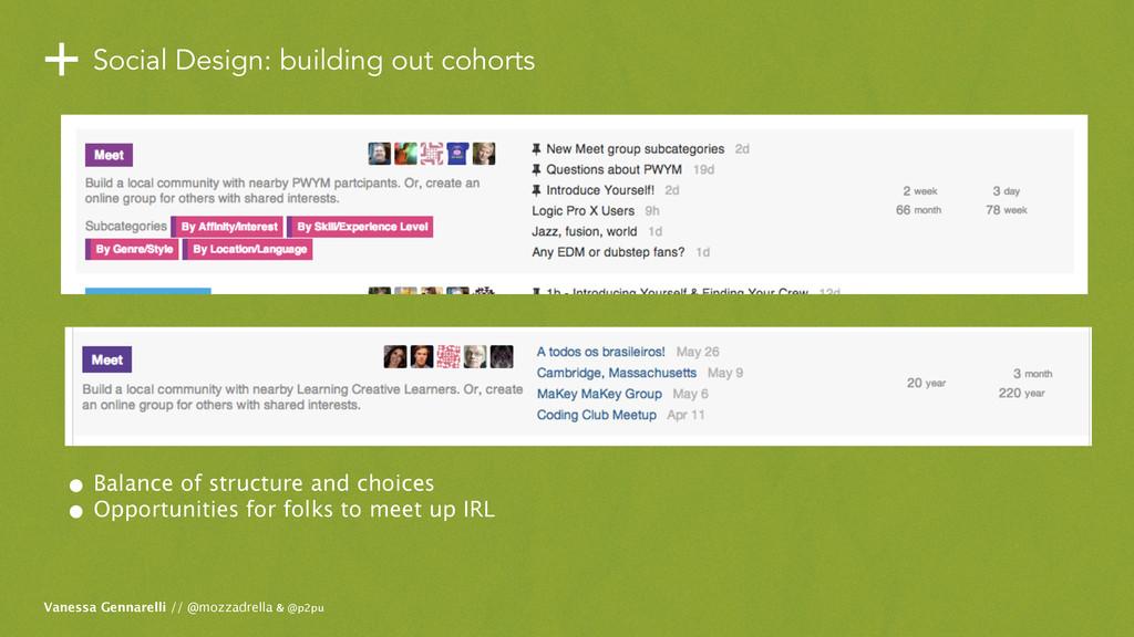 +Social Design: building out cohorts Vanessa Ge...
