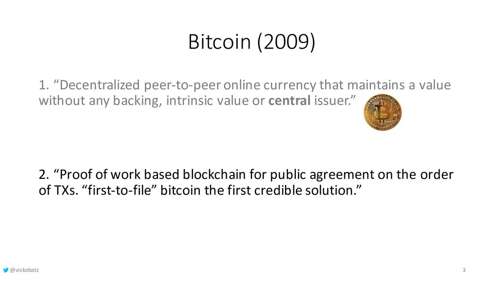 "Bitcoin (2009) 1. ""Decentralized peer-to-peer o..."